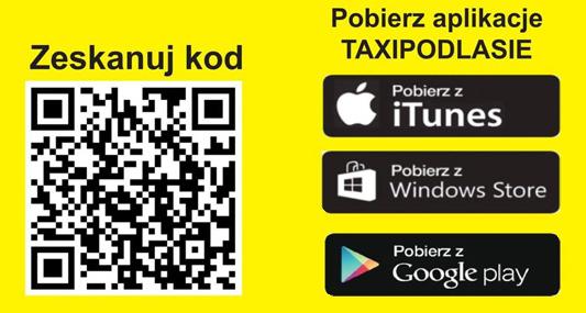 Aplikacja Taxi Podlasie